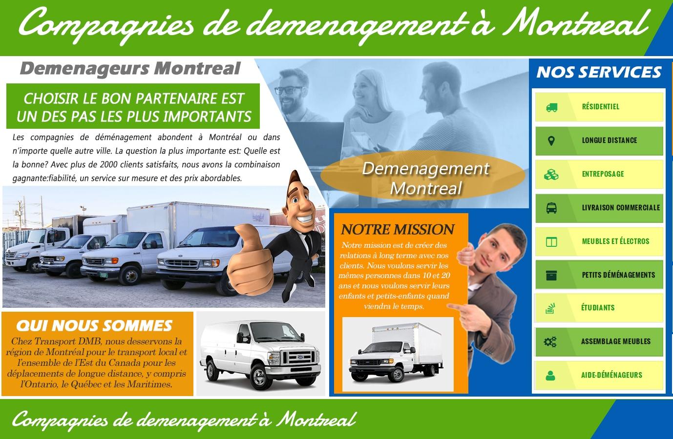 Compagnies de déménagement à Montréal